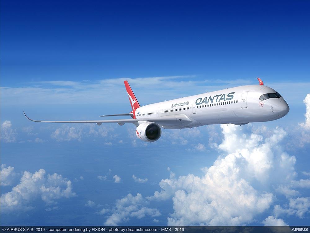 """澳洲航空宣布空客A350客机将成为""""日出计划""""首选机型"""