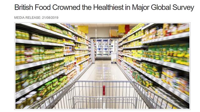 澳大利亚包装食品与饮料健康程度位列全球第三