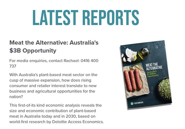 植物性肉类替代品将迎爆发式增长,为澳经济贡献30亿澳元